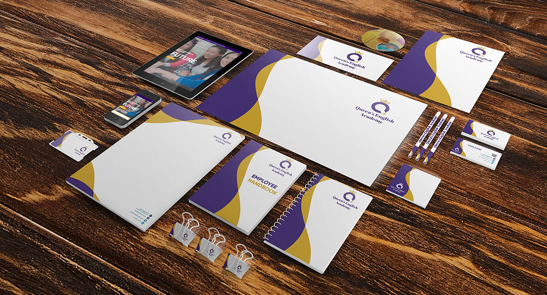 Queen's English Academy Corporate Identity Kit